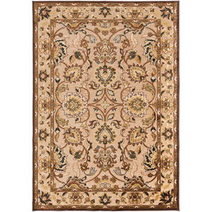 Basilica Feather Gray and Espresso Rectangular: 5 Ft. 2 In. x 7 Ft. 6 In. Rug