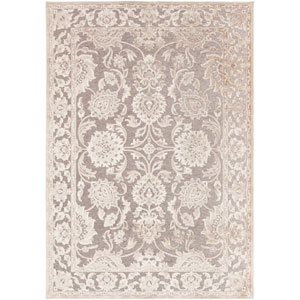 Basilica Gray and Parchment Rectangular: 5 Ft. 2 In. x 7 Ft. 6 In. Rug
