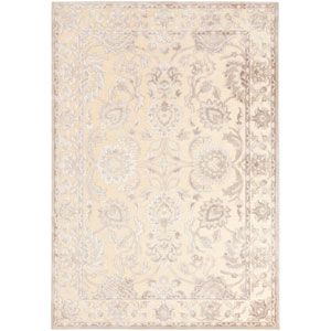 Basilica Camel and Feather Gray Rectangular: 5 Ft. 2 In. x 7 Ft. 6 In. Rug