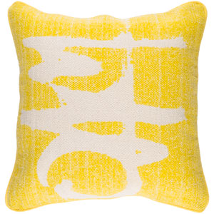 Bristle Yellow and Neutral 20-Inch Pillow Cover