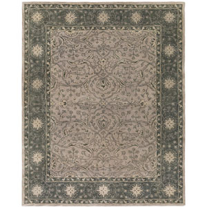 Blumenthal Green and Neutral Rectangular: 8 Ft x 10 Ft Rug