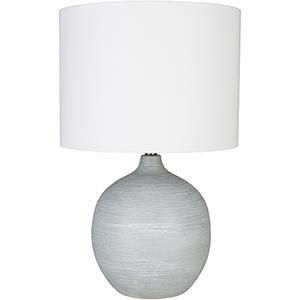 Burke Light Grey One-Light Table Lamp