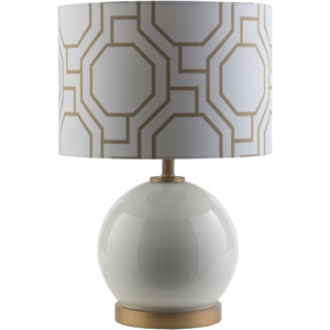 Bowen White One-Light Table Lamp