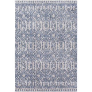 Baylee Sky Blue and Silver Gray Rectangular: 7 Ft. 10 In. x 10 Ft. 10 In. Rug