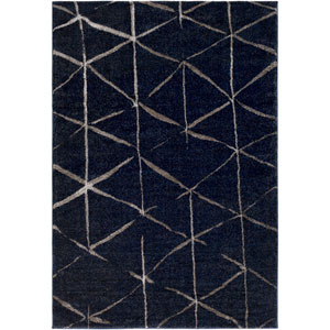 Baylee Dark Blue and Dark Brown Rectangular: 2 Ft. x 3 Ft. 3 In. Rug