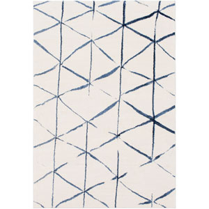 Baylee Cream and Blue Rectangular: 7 Ft. 10 In. x 10 Ft. 10 In. Rug