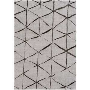 Baylee Gray and Black Rectangular: 2 Ft. x 3 Ft. 3 In. Rug