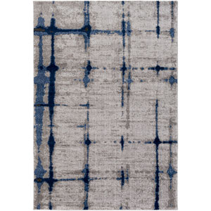 Baylee Blue, Gray and Dark Brown Rectangular: 2 Ft. x 3 Ft. 3 In. Rug