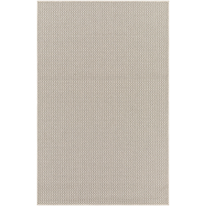 Breeze Ivory and Charcoal Indoor/Outdoor Rectangular: 5 Ft. 3 In. x 7 Ft. 6 In. Rug