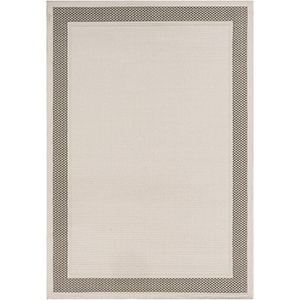 Breeze Taupe and White Indoor/Outdoor Rectangular: 5 Ft. 3 In. x 7 Ft. 6 In. Rug