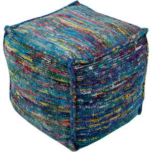 Bazaar Blue and Purple Cube Pouf