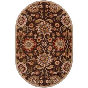 Caesar Chocolate Oval: 6 ft. x 9 ft. Rug