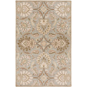 Caesar Dove Gray and Icicle Rectangular: 5 Ft. x 8 Ft. Rug
