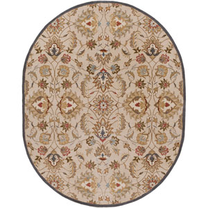 Caesar Blond and Brown Sugar Oval: 8 Ft. x 10 Ft. Rug