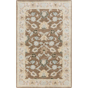 Caesar Oyster Gray and Pale Blue Rectangular: 5 Ft. x 8 Ft. Rug