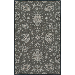 Caesar Dark Brown and Charcoal Rectangular: 3 Ft. 3 In. x 5 Ft. 3 In. Rug