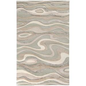 Modern Classics Ivory Swirl Rectangular: 5 Ft. x 8 Ft. Rug