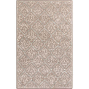 Modern Classics Taupe and Antique White Rectangular: 5 Ft. x 8 Ft. Rug