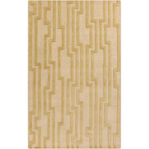Modern Classics Khaki and Mossy Gold Rectangular: 5 Ft. x 8 Ft. Rug