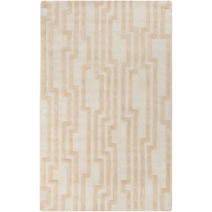 Modern Classics Antique White and Tan Rectangular: 5 Ft. x 8 Ft. Rug