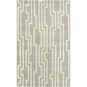 Modern Classics Flint Gray and Antique White Rectangular: 5 Ft. x 8 Ft. Rug