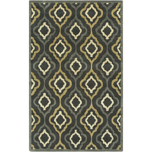 Modern Classics Midnight Green and Pewter Rectangular: 5 Ft. x 8 Ft. Rug
