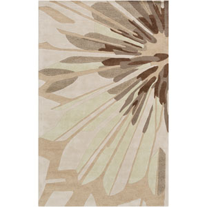 Modern Classics Oyster Gray and Moth Beige Rectangular: 5 Ft. x 8 Ft. Rug