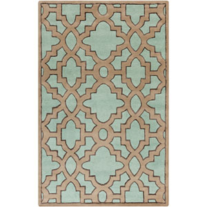 Modern Classics Sea Blue and Stone Rectangular: 5 Ft. x 8 Ft. Rug