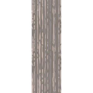 Modern Classics Slate and Light Gray Runner: 2 Ft 6 In x 8 Ft Rug