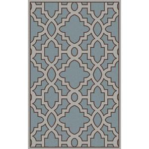 Modern Classics Slate and Light Gray Rectangular: 2 Ft x 3 Ft Rug