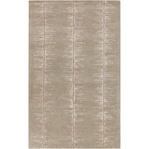 Modern Classics Olive and Light Gray Rectangular: 2 Ft x 3 Ft Rug