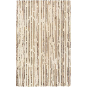 Modern Classics Neutral and Brown Rectangular: 2 Ft x 3 Ft Rug by Candice Olson