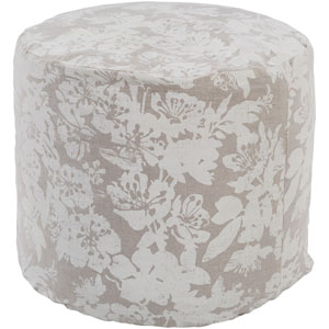 Clara Neutral and Gray Cube Pouf