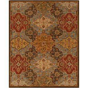 Carrington Fatigue Green and Coffee Bean Rectangular: 5 Ft. x 8 Ft. Rug