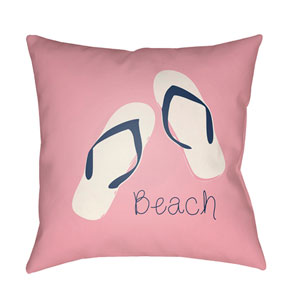 Carolina Coastal Bright Pink and Violet 22 x 22-Inch Pillow