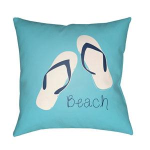 Carolina Coastal Violet and Sky Blue 20 x 20-Inch Pillow