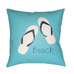 Carolina Coastal Violet and Sky Blue 22 x 22-Inch Pillow