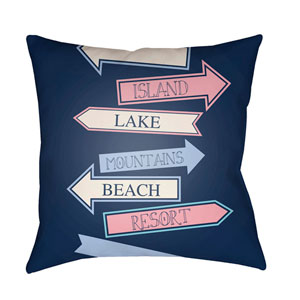 Carolina Coastal Multicolor 22 x 22-Inch Pillow