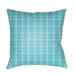 Carolina Coastal Bright Blue and White 22 x 22-Inch Pillow
