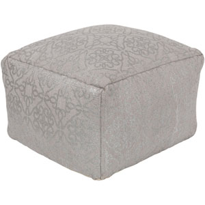 Cecily Taupe and Silver Pouf