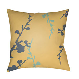Chinoiserie Floral Multicolor 22 x 22-Inch Pillow
