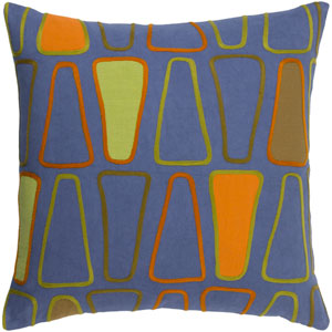 Charade Multicolor 22-Inch Pillow with Down Fill