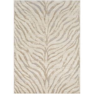 City Beige and Khaki Rectangular: 5 Ft. 3 In. x 7 Ft. 3 In. Rug
