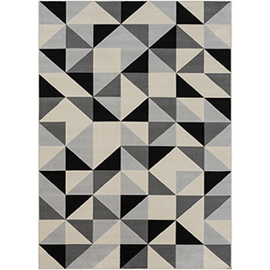 City Grey and Beige Rectangular: 9 Ft. 3 In. x 12 Ft. 3 In. Rug