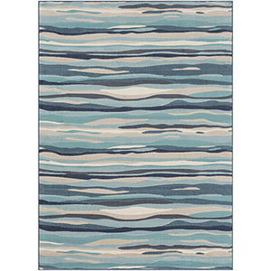 City Aqua Rectangular: 9 Ft. 3 In. x 12 Ft. 3 In. Rug