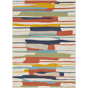 City Multicolor Rectangular: 5 Ft. 3 In. x 7 Ft. 3 In. Rug