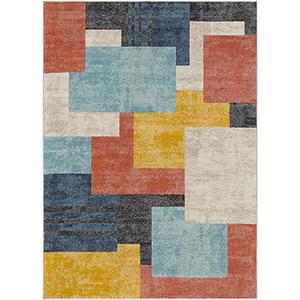 City Multicolor Rectangular: 5 Ft. 3 In. x 7 Ft. 3 In. Rug