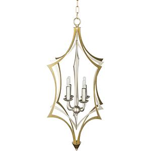 Clarion Gold Four-Light Chandelier