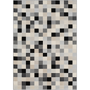 City Black, Grey and Taupe Rectangular: 7 Ft. 10 In. x 10 Ft. 3 In. Rug