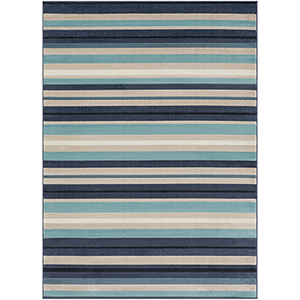 City Aqua and Charcoal Rectangular: 7 Ft. 10 In. x 10 Ft. 3 In. Rug